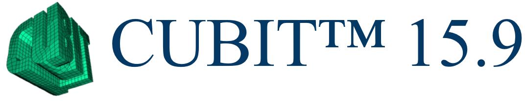 CUBIT™ 15.9 Released October 14, 2021