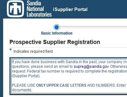 iSupplier Portal Login Screen Shot
