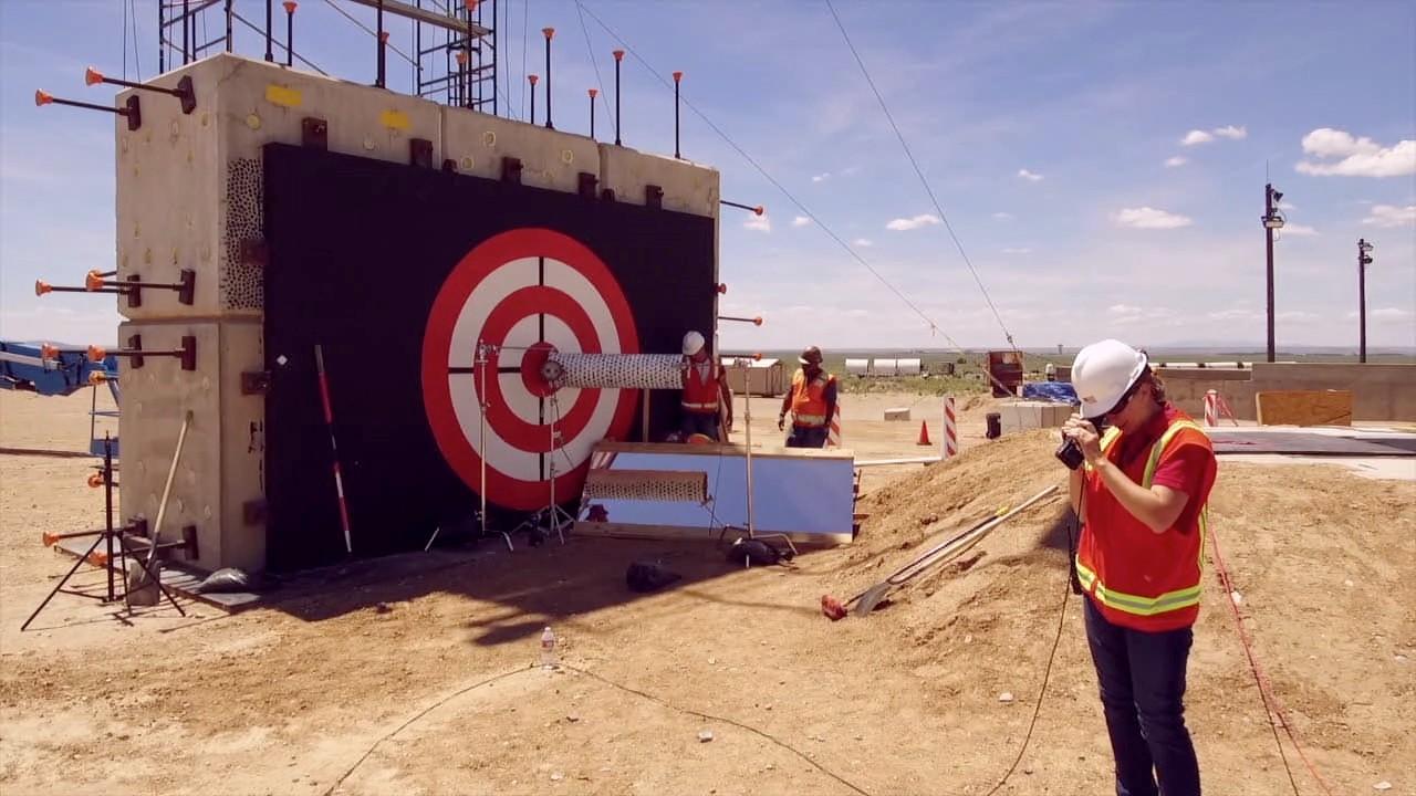 Preparing the Impact Site for a Forward Ballistic Test