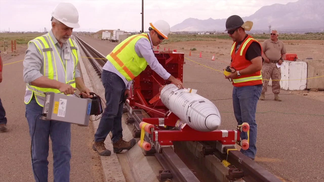 Loading a Test Unit onto the Sled