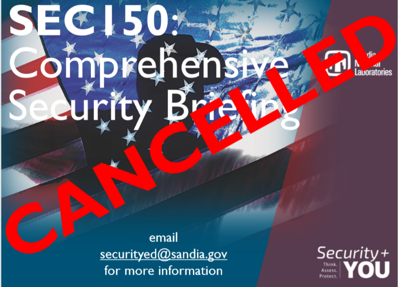 SEC150 Cancelled Poster