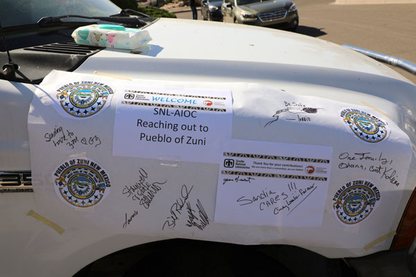 poster signed by AIOC members