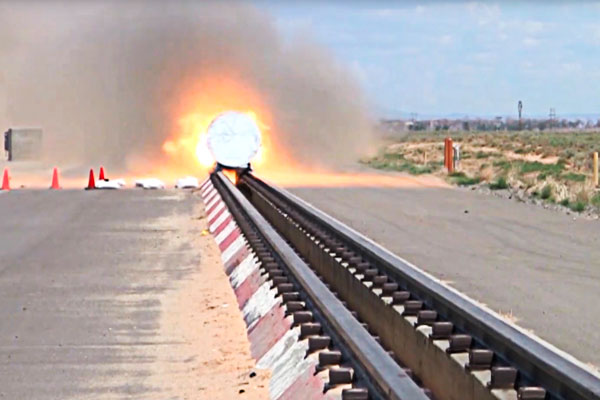 sled track rocket test