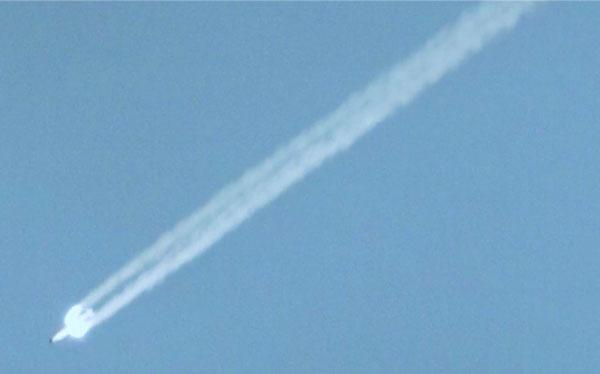 mock B61-12 drops through the air