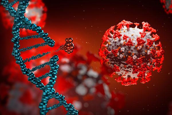 digital rendering of broken DNA chain