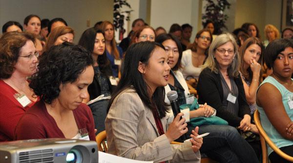 Chen Wang at conference