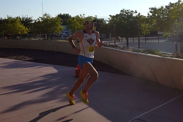 Justin Wiens running in race