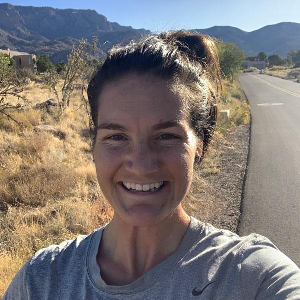 Sofie Schunk on roadside trail