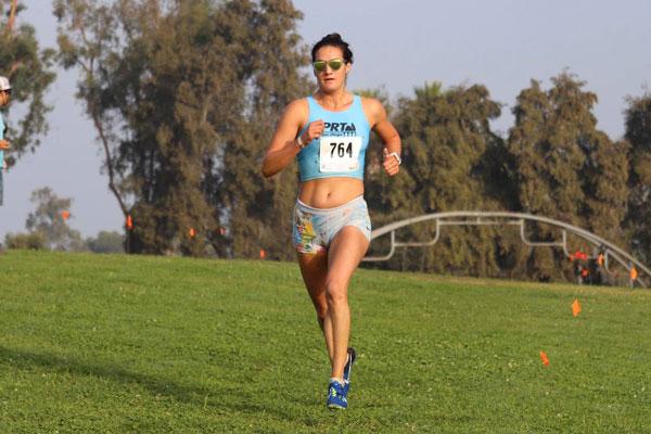 Sofie Schunk running in race