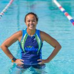 Sara Draper in pool