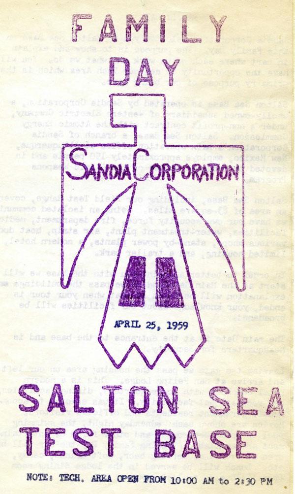 cover of Salton Sea 1959 event brochure