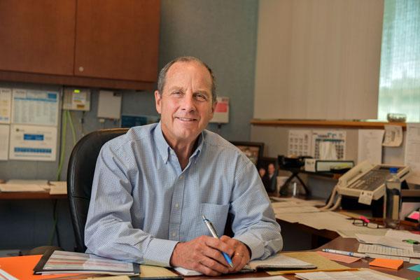 Steve Girrens in his office