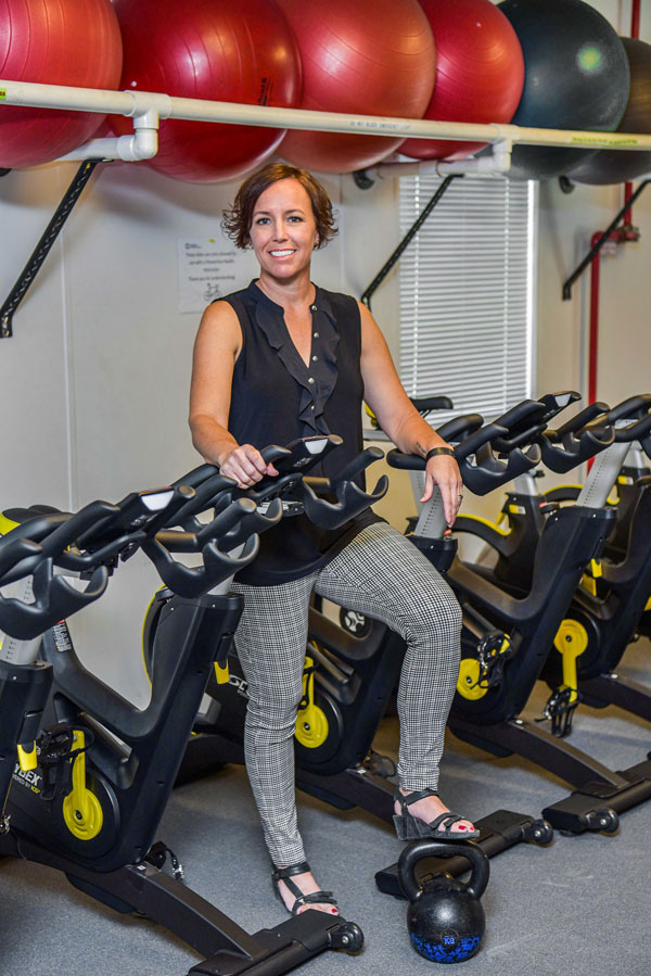 Callie in Sandia gym