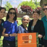 Sandia health educators at park event