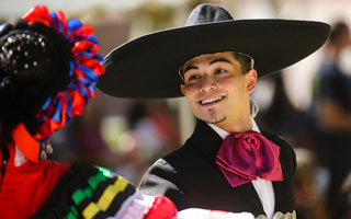 Ballet Folklorico dancers in colorful costumes