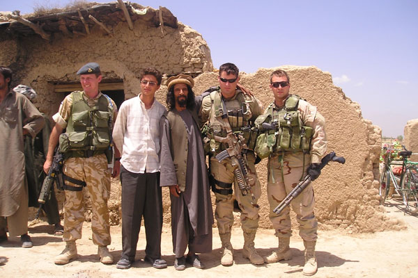 Ed Williams and other soldiers in Afghanistan