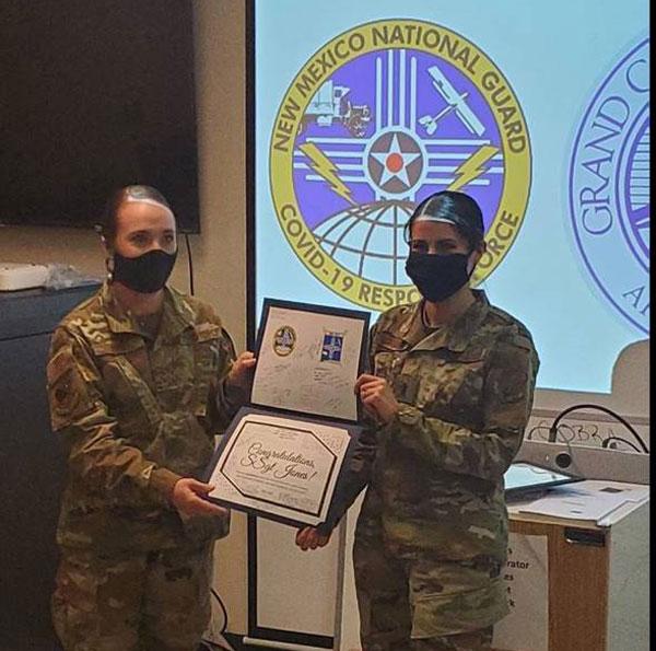 Tawnya Jones receives certificate