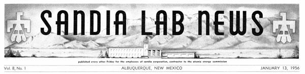Lab News masthead from 1956