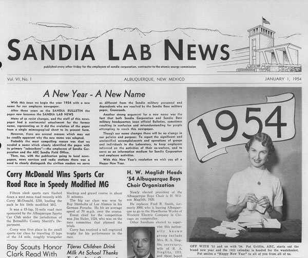 first issue of Lab News circa 1954
