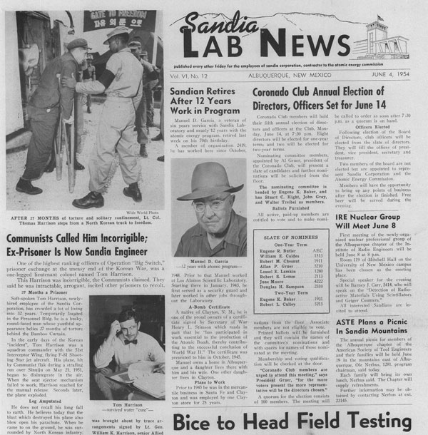 front page of June 1954 issue