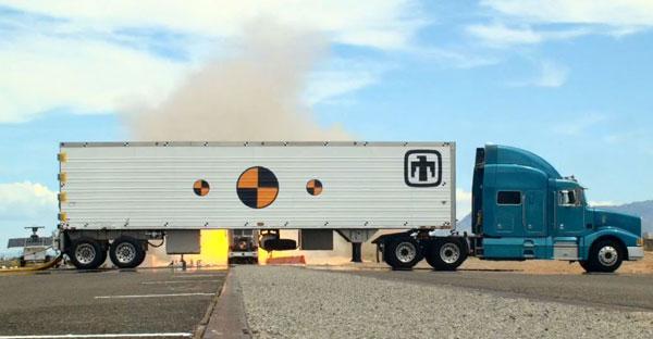 MGT prototype awaits impact from semi-trailer