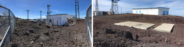 photos of the facility before and after the clean-up