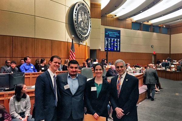 honorees with legislative sponsors