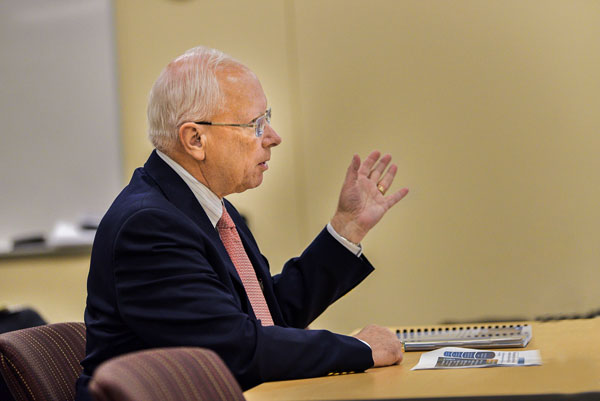 Sandia Labs Director Steve Younger speaks with the New Mexico State Legislature