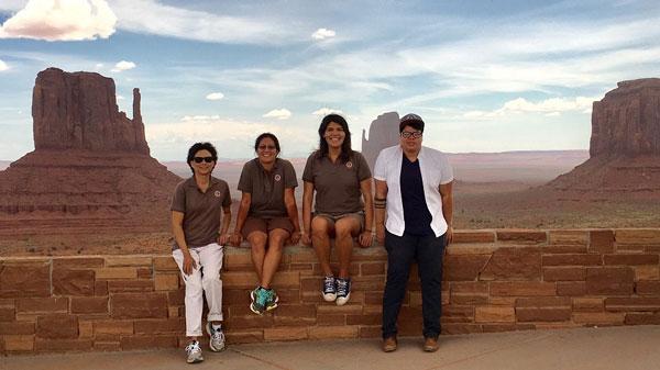 Sandia interns at Monument Valley, Arizona