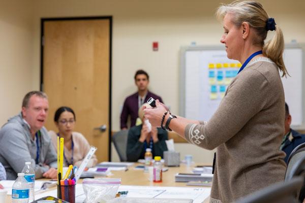 Carrie O'Hara teaches nuclear safety class