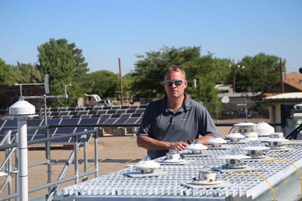 Researcher Bruce King in PV field