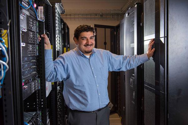 Vince Urias in server room