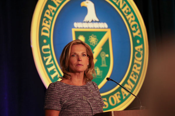 Lisa E. Gordon-Hagerty speaks at podium