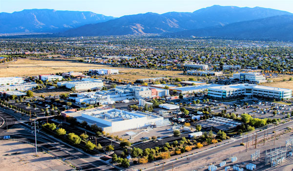 Aerial view of Sandia Science & Technology Park