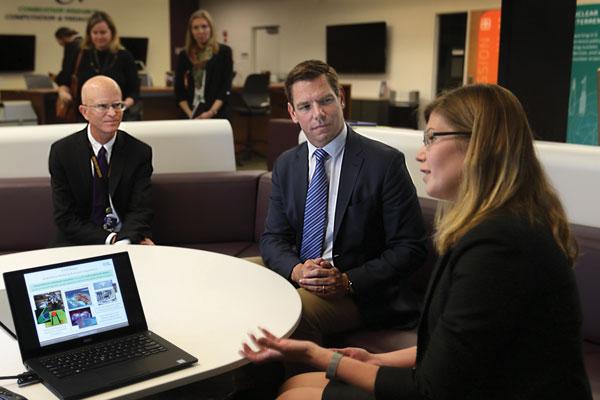 Andy McIlroy, Congressman Swalwell and Irina Tezar