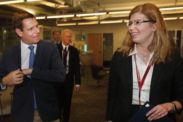Congressman Swalwell and Irina Tezar