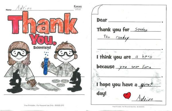 cub scout thank you note