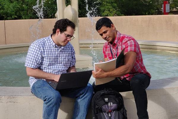 interns Melvin Lugo Alvarez and Edgardo Desarden Carrero