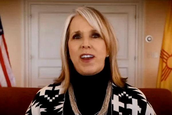 Michelle Lujan Grisham speaks on video