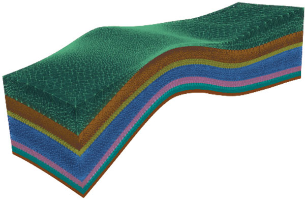 geometric model of geological layers