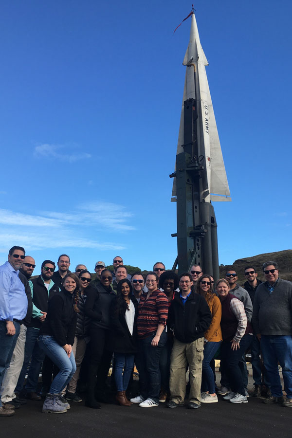 WIP class in front of Nike missile