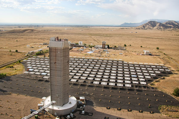 solar tower and solar research facilities