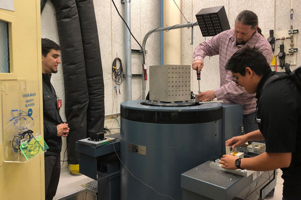 students work on capstone project