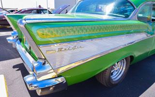 back fin of classic car