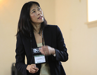 Dr. Jacqueline Chen gives a talk on computation at the Science Day program during the 2015 National Science Bowl competition, May 1, 2015, in Washington, DC (Photo by Dennis Brack, U.S. Department of Energy, Office of Science)