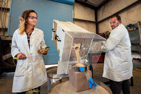 scientists run experiment on minerals