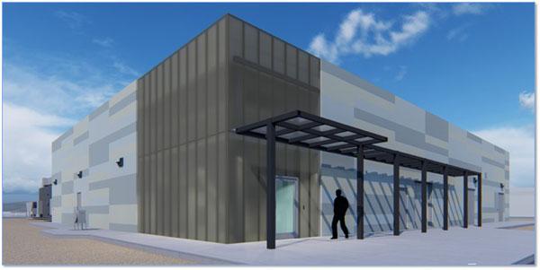 digital rendering of data center building