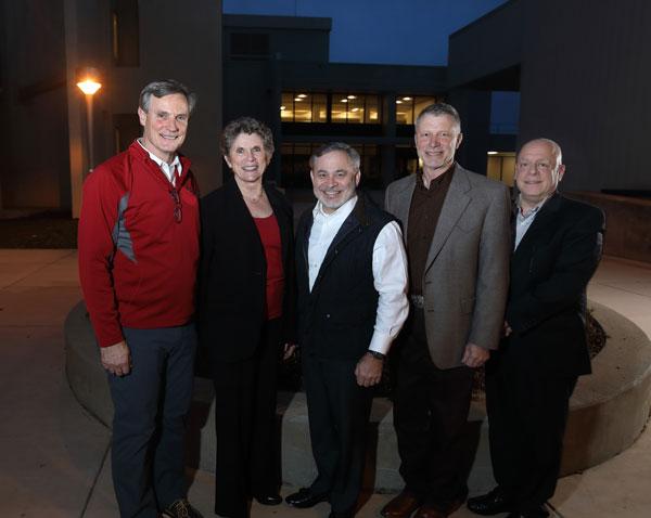 DOE Deputy Secretary Dan Brouillette stands with Sandia California executives