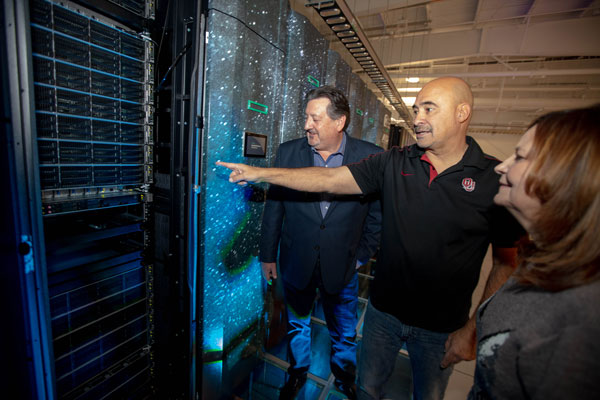 David Martinez points out feature of Astra supercomputer