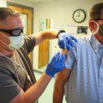 Peery gets a flu shot